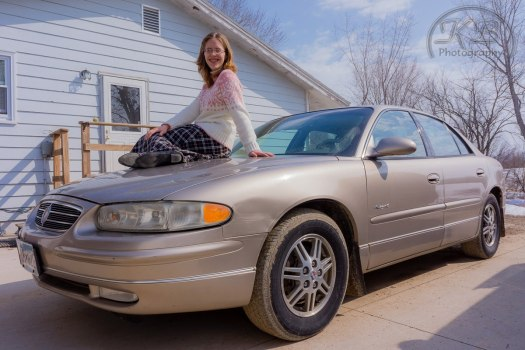 Sarah Brown & Buick Regel Car