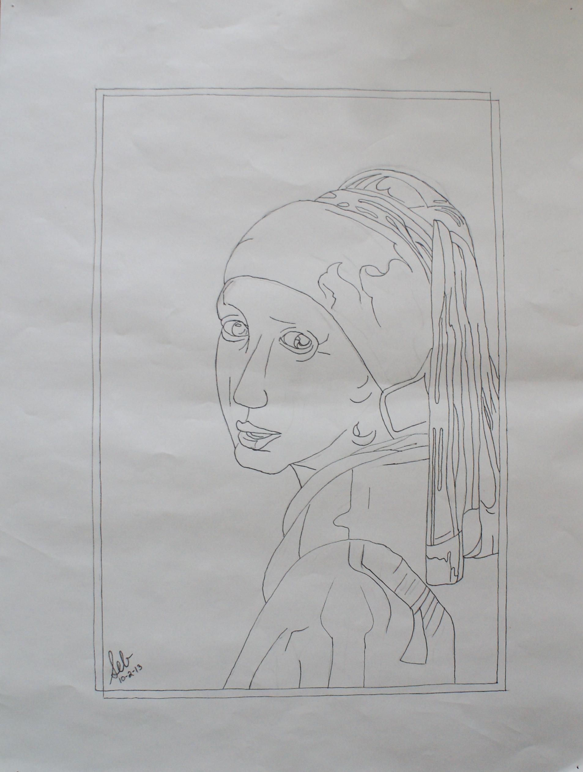 Contour Line Drawing Ink : February sarah e brown