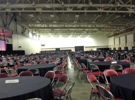 The large dining hall! It had to be big enough to accommodate the 3,000 attendees!