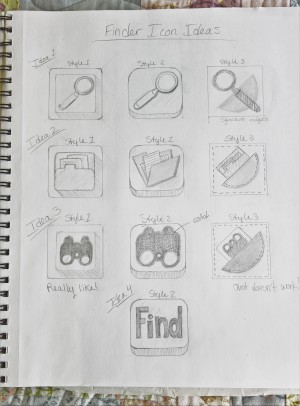 Exercise 2 Thumbnail Ideas for Finder